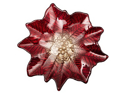 Блюдо POINSETTIA RED GOLD 27х26см